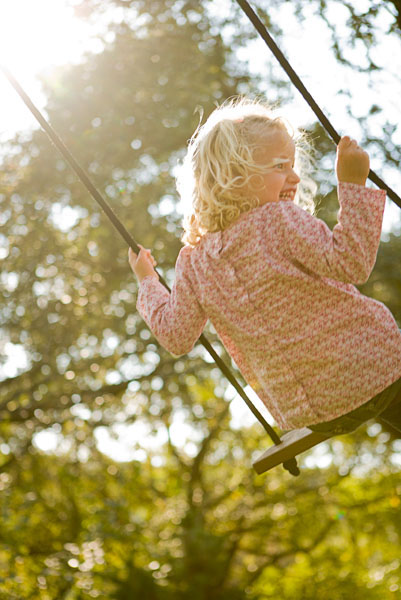 smiling girl, swing, child, summer, play, fun