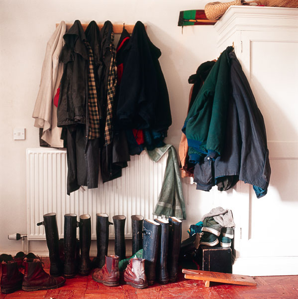 mud room, boots, wellies, coats, jackets, shoes, hooks, entry