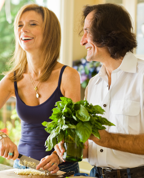 Man, Woman, Kitchen, Cooking, Herbs, Rosanna Bowles, Coming Home