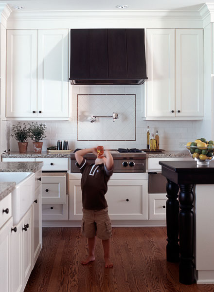 kitchen, residential, white, wood floor, boy, child, juice, drinking, bare feet