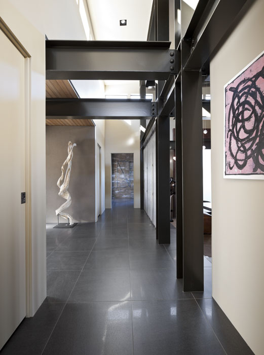 hallway, steel, exposed steel, architectural photographer, interior photographer